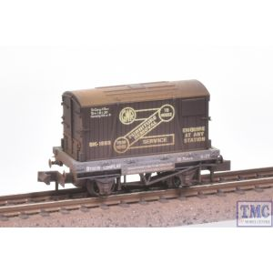 NR-20 Peco N Gauge Furniture Removals Wagon GWR with Extra Detail Weathering by TMC