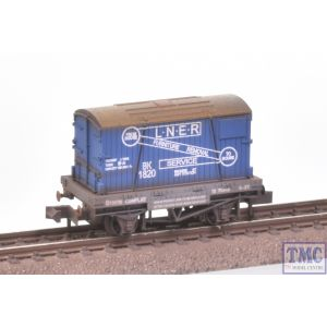 NR-23 Peco N Gauge Furniture Removals Wagon LNER with Extra Detail Weathering by TMC