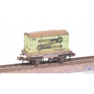 NR-24 Peco N Gauge Furniture Container Wagon SR with Extra Detail Weathering by TMC