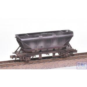 NR-303W Peco N Gauge MGR Coal Hopper HAA EWS Maroon Weathered by TMC