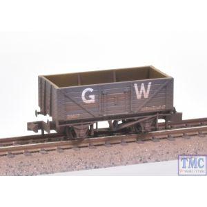 NR-41W Peco N Gauge 7 Plank Coal Wagon GW Dark Grey Weathered by TMC