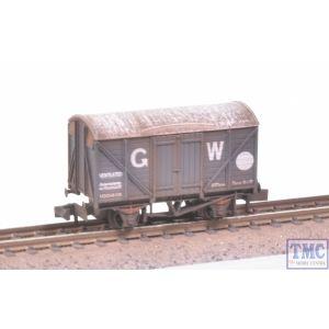 NR-43W Peco N Gauge Box Van Standard Type GW Dark Grey with Extra Detail Weathering by TMC