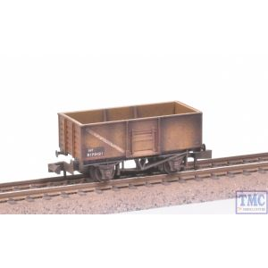 NR-44FA Peco N Gauge Coal Wagon Butterley Steel Type Bauxite no.B170121 with Extra Detail Weathering by TMC