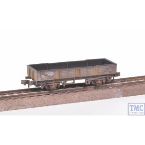 NR-7F Peco N Gauge Ferry Tube Wagon BR Grey with Extra Detail Weathering by TMC