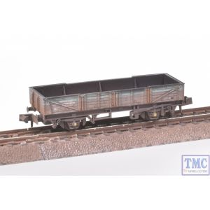 NR-7G Peco N Gauge Ferry Tube Wagon BR Engineers Dutch Livery with Extra Detail Weathering by TMC