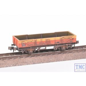 NR-7J Peco N Gauge Ferry Tube Wagon Satlink Red/Yellow with Extra Detail Weathering by TMC