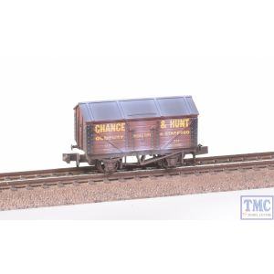 NR-P122A Peco N Gauge Salt Wagon Chance & Hunt No.311 Red Weathered by TMC