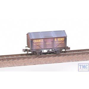 NR-P122C Peco N Gauge Salt Wagon Chance & Hunt No.314 Red Weathered by TMC