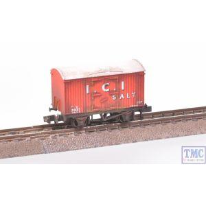 NR-P134 Peco N Gauge Box Van I.C.I. Salt Weathered by TMC