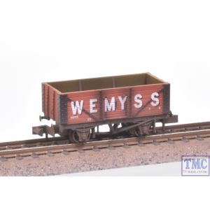 NR-P400 Peco N Gauge 7 Plank Coal Wagon Wemyss Bauxite Weathered by TMC