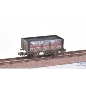 NR-P407 Peco N Gauge 7 Plank Coal Wagon William Vernon Chester Black Weathered by TMC