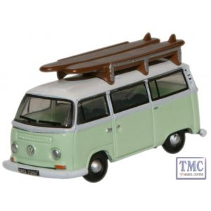 NVW007 Oxford Diecast 1:148 Scale Birch Green White VW Minibus