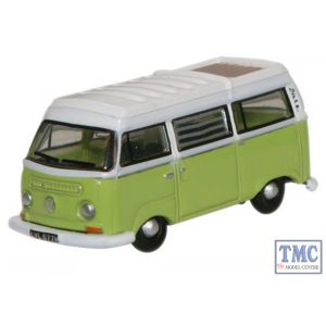 NVW012 Oxford Diecast 1:148 Scale Lime Green_ White VW Bay Window Camper