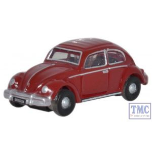 NVWB002 Oxford Diecast 1:148 Scale Ruby Red VW Beetle
