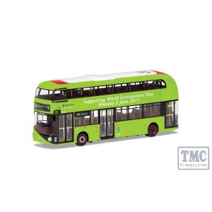 OM46625B Corgi 1:76 Scale New Routemaster, Stagecoach London, LTZ 1406/LT406, Route N8 Hainault: The Lowe, Supporting World Environment Day