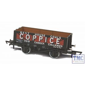 OR76MW5003 Oxford Rail 1:76 Scale Coppice - Cannock Chase No369 5 Plank Mineral Wagon