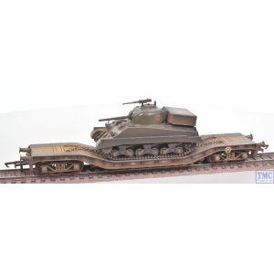 OR76WW006C Oxford Rail 1/76 Scale OO Gauge KWA Warwell with Sherman tank No 95537 Pristine