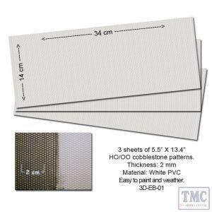 P3D-EB-01 Proses Embossed PVC Sheets (Cobblestone)