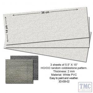 P3D-EB-02 Proses Embossed PVC Sheets (Random Cobblestone)