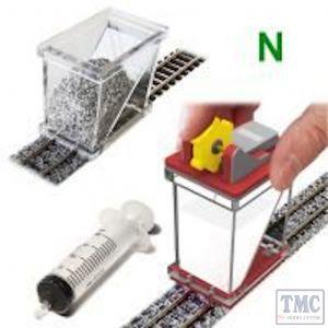 PBS-FIX-04 (N) Proses Ballast Spreader & Ballast Gluer (Fixer) COMBO for N Scale Tracks