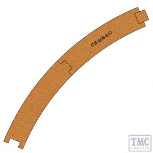 PCB-606-7 Proses 10 X Pre-Cut Cork Bed for R606-607 R2 Curve Tracks