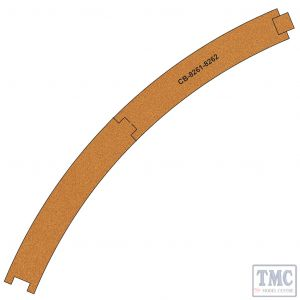 PCB-8261-2 Proses 10 X Pre-Cut Cork Bed for R8261-8262 R4 Curve Tracks