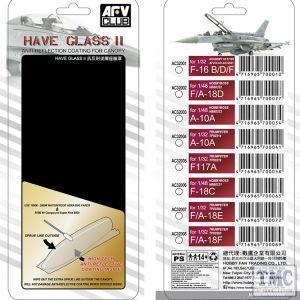 PKAC32001 AFV Club 1:32 Scale F-16B/D/F Have Glass II Clear Canopy w/ Anti-reflective