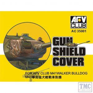 PKAC35001 AFV Club 1:35 Scale Gun Shield Cover for M41