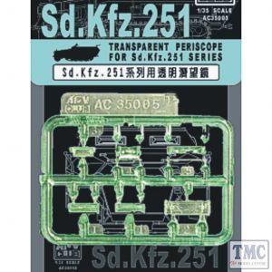 PKAC35005 AFV Club 1:35 Scale Transparent Periscopes for Sd.Kfz.251 Series