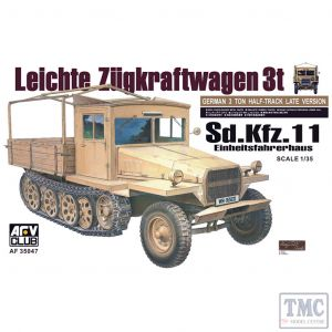 PKAF35047 AFV Club 1:35 Scale SdKfz 11 3-Ton Half-track (Late)