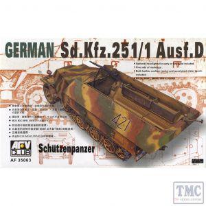 PKAF35063 AFV Club 1:35 Scale SdKfz 251/1 Ausf D 'Schutzenpanzer'