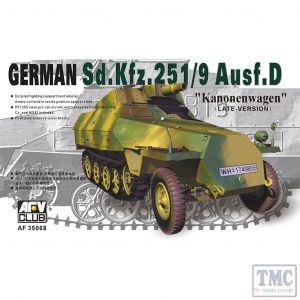PKAF35068 AFV Club 1:35 Scale SdKfz 251/9 Ausf D 75mm 'Kanonenwagen' late