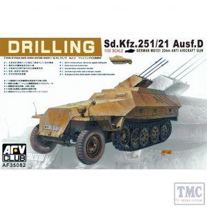 PKAF35082 AFV Club 1:35 Scale SdKfz 251/21 Ausf D 'Drilling' MG151/20