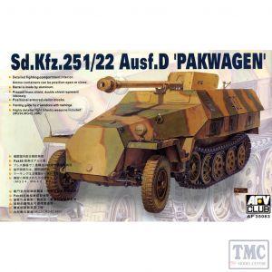 PKAF35083 AFV Club 1:35 Scale SdKfz 251/22 Ausf D 'Pakwagen' late