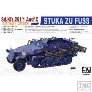 PKAF35091 AFV Club 1:35 Scale SdKfz 251/1 Ausf C 'Stuka du Fuss'