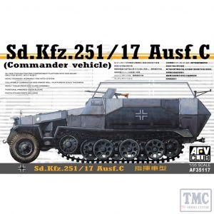 PKAF35117 AFV Club 1:35 Scale SdKfz 251/17 Ausf C Command Vehicle