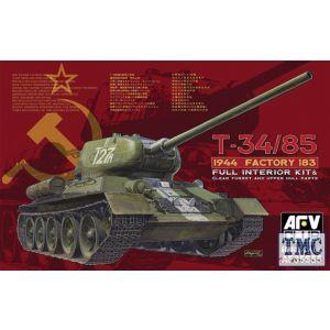 PKAF35S55 AFV Club 1:35 Scale T-34/85 Mod 1944 Factory No.183 w/ Transp Turret