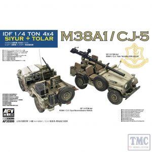 PKAF35S99 AFV Club 1:35 Scale IDF M38A1/CJ-5 Siyur + Toyar ¼ton 4x4
