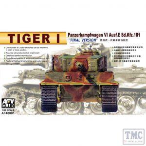 PKAF48001 AFV Club 1:48 Scale Tiger I (Late)