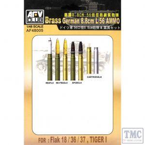 PKAF48005 AFV Club 1:48 Scale 8.8cm/L56 Ammo (brass)