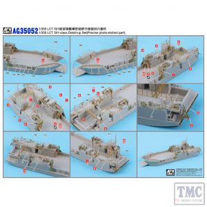 PKAG35052 AFV Club 1:350 Scale LCT 501-Class Detail-up Set (for PKSE73518)