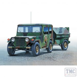 PKAY13012 Academy 1:35 Scale M151A2 Hard Top with Trailer