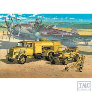 PKAY13401 Academy 1:72 Scale WWII German Fuel Truck and Schwimwagen