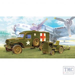 PKAY13403 Academy 1:72 Scale WWII US Ambulance & Towing Tractor
