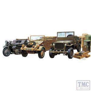 PKAY13416 Academy 1:72 Scale 1310 WWII Ground Vehicle Set