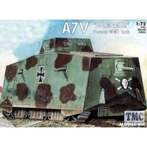 PKEM5003 Emhar 1:72 Scale A7V 'Sturmpanzer' German WWI Tank