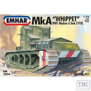 PKEM5004 Emhar 1:72 Scale Mk A 'Whippet' WWI Medium Tank