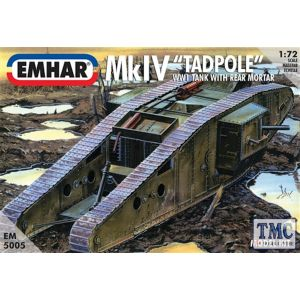 PKEM5005 Emhar 1:72 Scale Mk IV 'Tadpole' WWI Tank with Rear Mortar