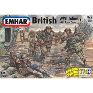 PKEM7201 Emhar 1:72 Scale British Infantry & Tank Crew WWI Figures