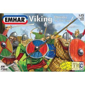 PKEM7205 Emhar 1:72 Scale Vikings (12 poses, 50 figures)